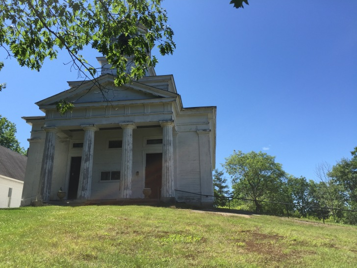 the First Baptist Church of Sedgwick, built in 1837
