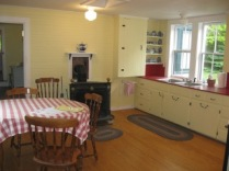Anchorage, kitchen with Franklin stove