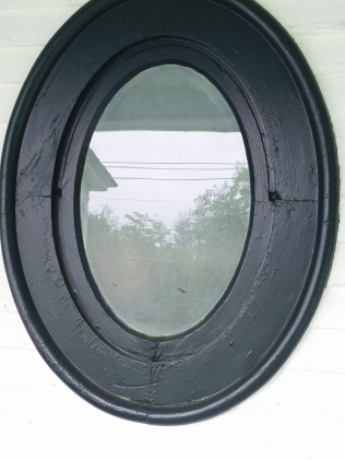 Outside view of the shower window on the Anchorage