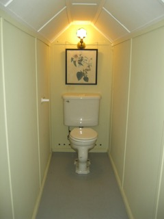 Anchorage, second floor bathroom with vaulted ceiling