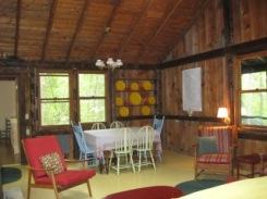 Cabin, main room looking east