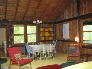 Cabin, main room looking east