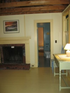Cabin, front bedroom with fireplace
