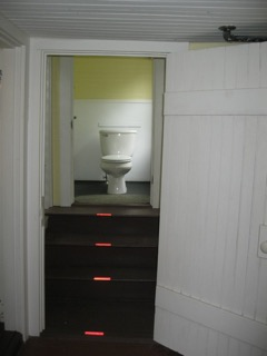 """The throne"" -- north wing bathroom in the Anchorage"