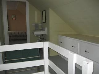 Sink in the hallway of the Anchorage's second floor bedroom suite